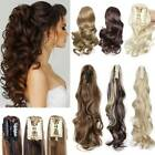 Real Thick Claw Ponytail Hair Piece Clip in Hair Extensions As Human Blonde Hair