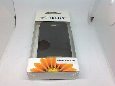 TELUS Phone Skin for Alcatel Pop Black Read Description