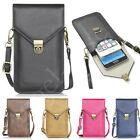 Universal PU Leather Shoulder Bag Strap Pouch Wallet Case Cover for Cell Phones