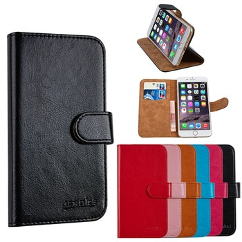 Luxury PU Leather Wallet For Alcatel One Touch Pop Up 6044D Mobile Phone Bag Cover With Stand Card Holder Vintage Style Case