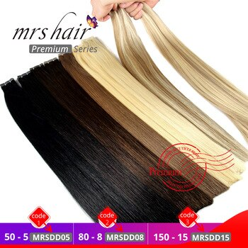 human hair extensions tape in 7