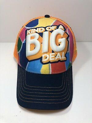 """Walmart Hat Back To School """"Kind Of A Big Deal"""" Snap Back Blue Orange Pink"""