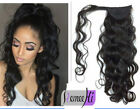 Wavy Ponytail Clip in 100% Remy Human Hair Extensions Long Body Wave Pony Tail